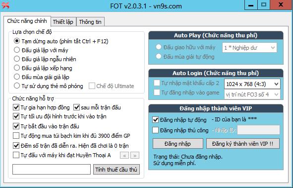 phần mềm hỗ trợ auto Fifa online 3