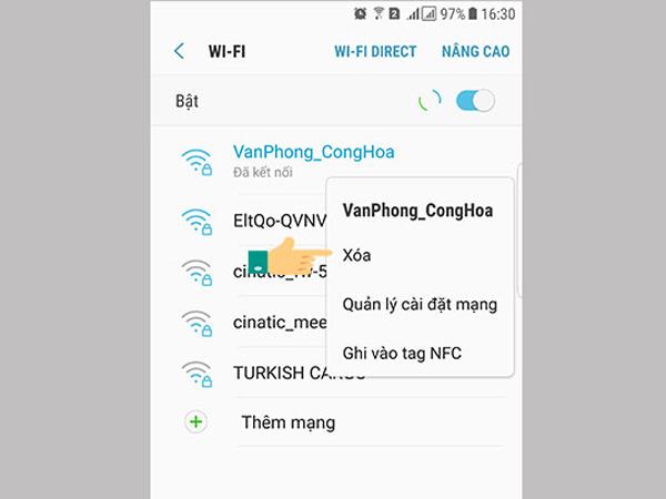 Hướng dẫn cách kiểm tra mật khẩu để kết nối wifi đối với máy Android