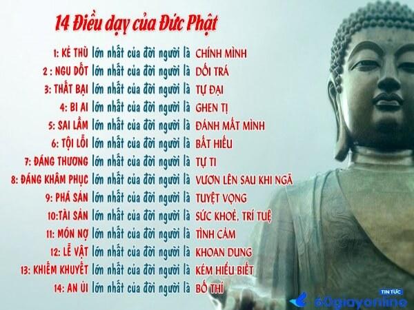 14 điều Phật dạy cách làm người