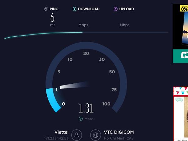 kiểm tra tốc độ mạng 1.2