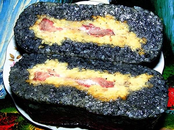 Bánh chưng đen Mường Lò