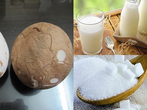 cách làm mứt dừa sữa