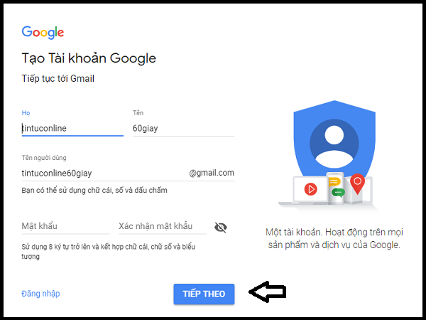 tạo gmail 2.2