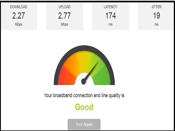 kiểm tra tốc độ mạng 2.3