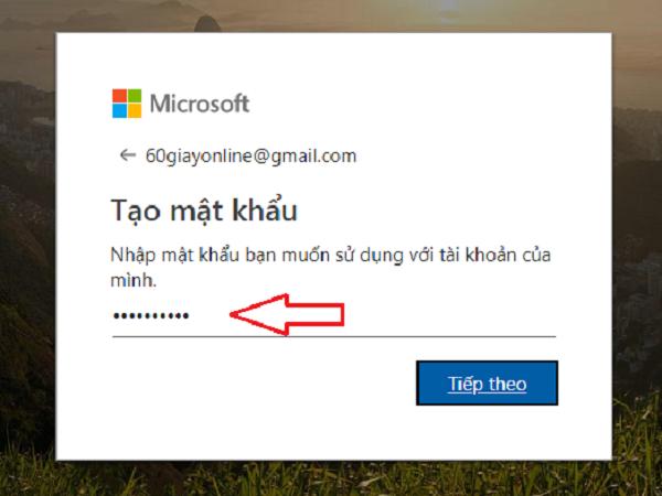 tạo tài khoản Microsoft 3.2