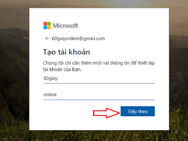 tạo tài khoản Microsoft 3.3