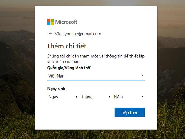 tạo tài khoản Microsoft 3.4