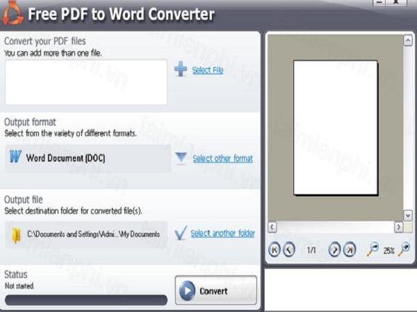 chuyển pdf sang word 4