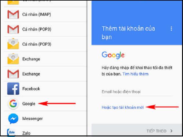 tạo gmail 4.2