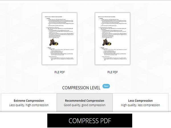giảm dung lượng file PDF online 13