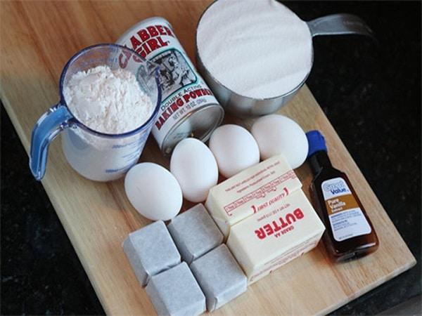 nguyên liệu cho cách làm kem tươi