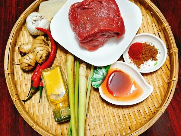 nguyên liệu làm thịt bò khô