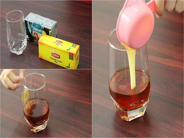 pha trà sữa trân châu