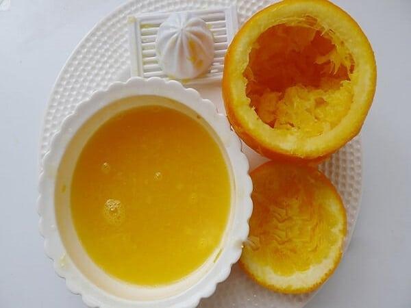nước cam để làm kem
