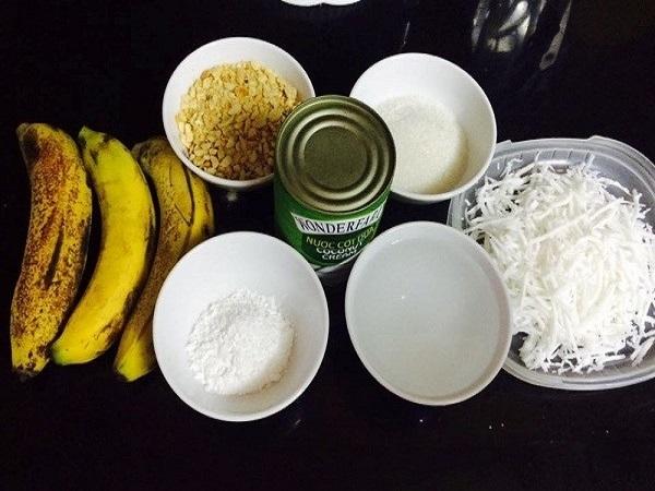 nguyên liệu cho cách làm kem chuối