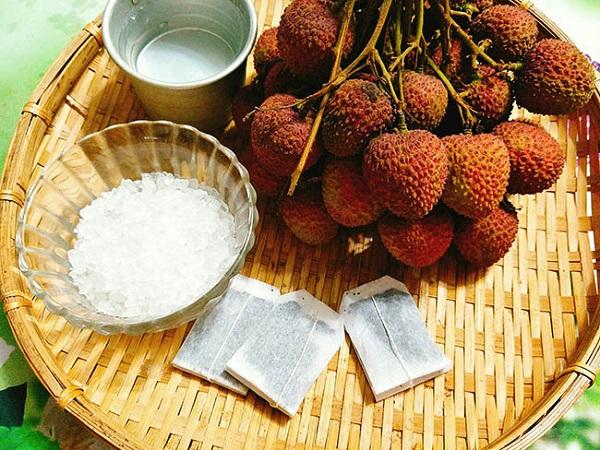 nguyên liệu cho món trà vải