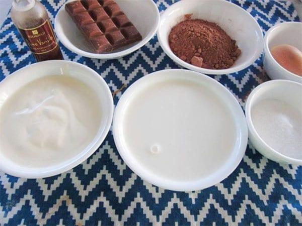 nguyên liệu làm kem socola