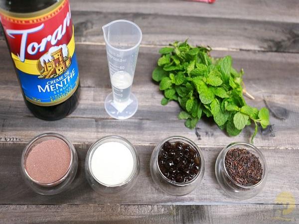 nguyên liệu làm trà sữa socola