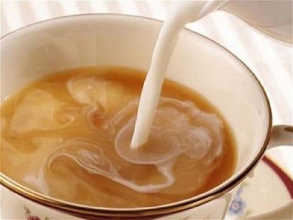pha hỗn hợp trà ô long vào sữa