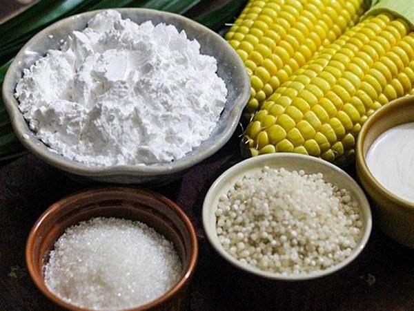nguyên liệu cho cách nấu chè bắp