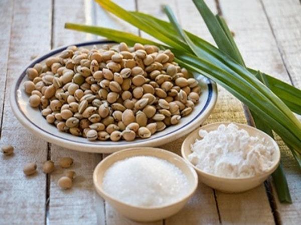 nguyên liệu cho cách nấu chè đậu ván