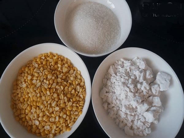 nguyên liệu nấu chè hoa cau