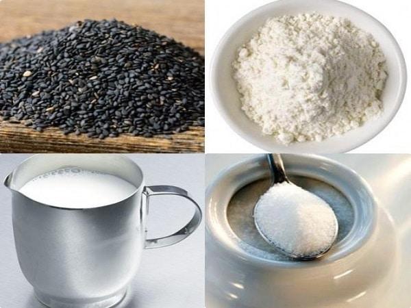 nguyên liệu nấu chè mè đen