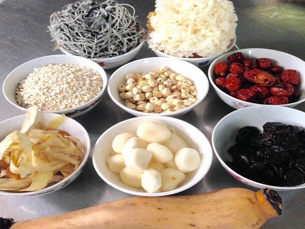 nguyên liệu nấu chè sâm bổ lượng