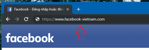 Trang Facebook giả mạo