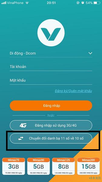 Làm thế nào để chuyển đổi danh bạ từ sim 11 số sang sim 10 số Viettel?