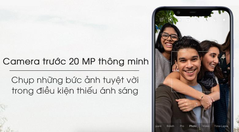 Camera trước của Nokia 8.1 có thể chụp trong điều kiện thiếu sáng