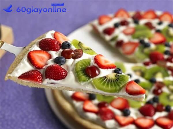 cách làm pizza trái cây