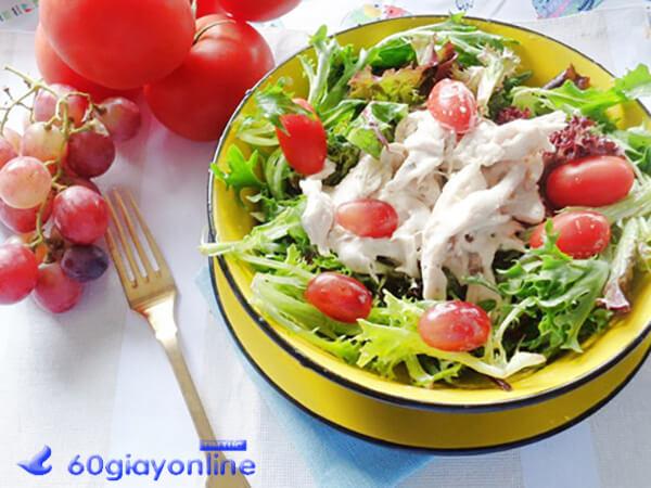 cách làm Salad ức gà sữa chua